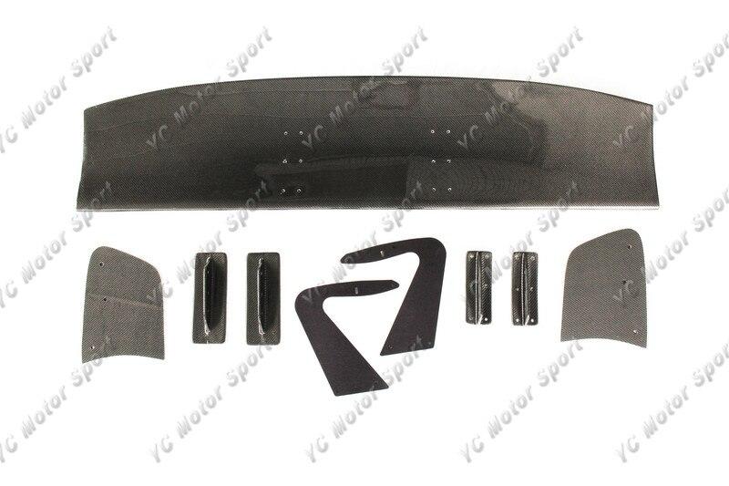 Universal Voltex Type 7 SWAN NECK Style 1600mm GT Wing Spoiler (Fits EVO7 8 9 GTR35 GT86 S2000 etc.) CF (1)