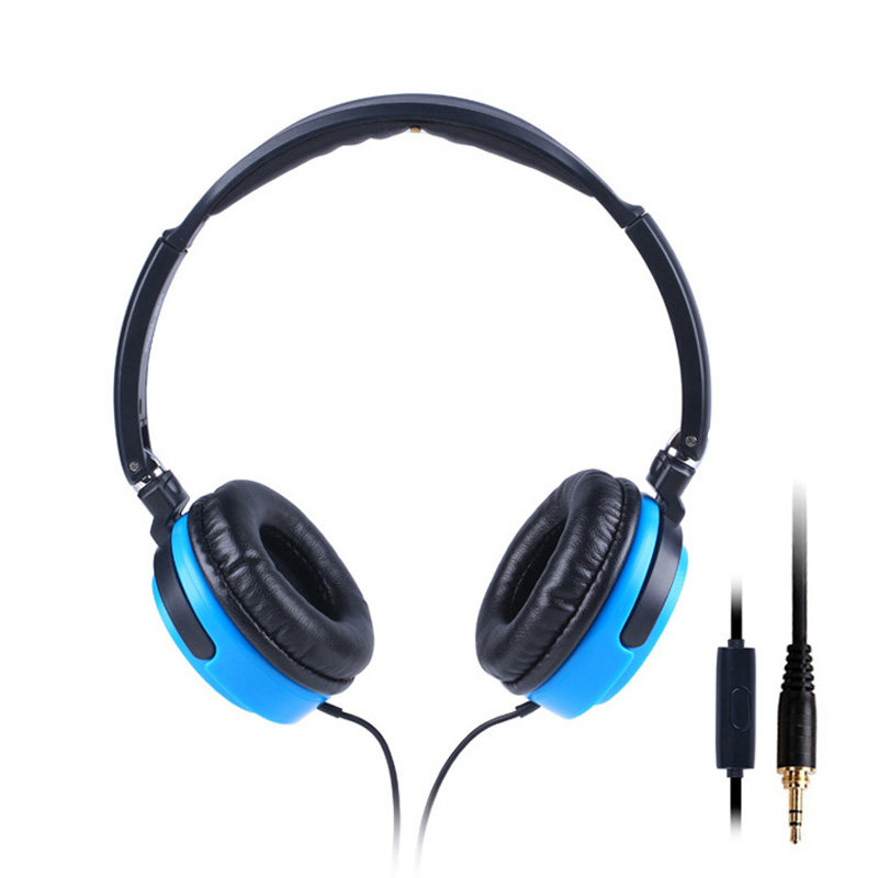 Salar EM520i Foldable Headphones Stereo Surround 3.5mm Headband Headset Earbuds For Samsung For HTC Earphones With Mic<br><br>Aliexpress
