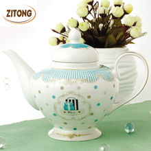 Advanced Ceramic Teapot High Quality Bone China Tea Set Coffee Pot Porcelain
