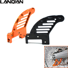 for KTM 350 SX-F/XCF 2011-2014 350 EXC-F/XCF-W 2012 525 XCW motorcycle accessories cnc aluminum Rear brake disc guard potector(China)