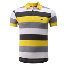 Cotton Men Sportwear Polo Shirt Golf Clothing Tennis Shirts Sports Leisure Stripes T Shirt Turn-down Collar Breathable Clothes