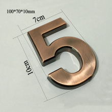 New 1PC 100*70*10mm Plastic House Numbers Hotel Home Door ABS Plating Number Digits Sticker Plate Signs Address Plaque Wholesale(China)
