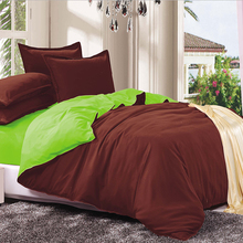LILIYA Warm and Sweet Bedding Set New Style Set  Bedding Sets by Solid Color Pillow Case Sheet Quilt Cover #S-