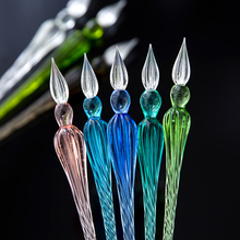 1Pc Overvalue Crystal Glass Dip Pen Signature Pen Fountain Pens Bussiness Offices School Stationery