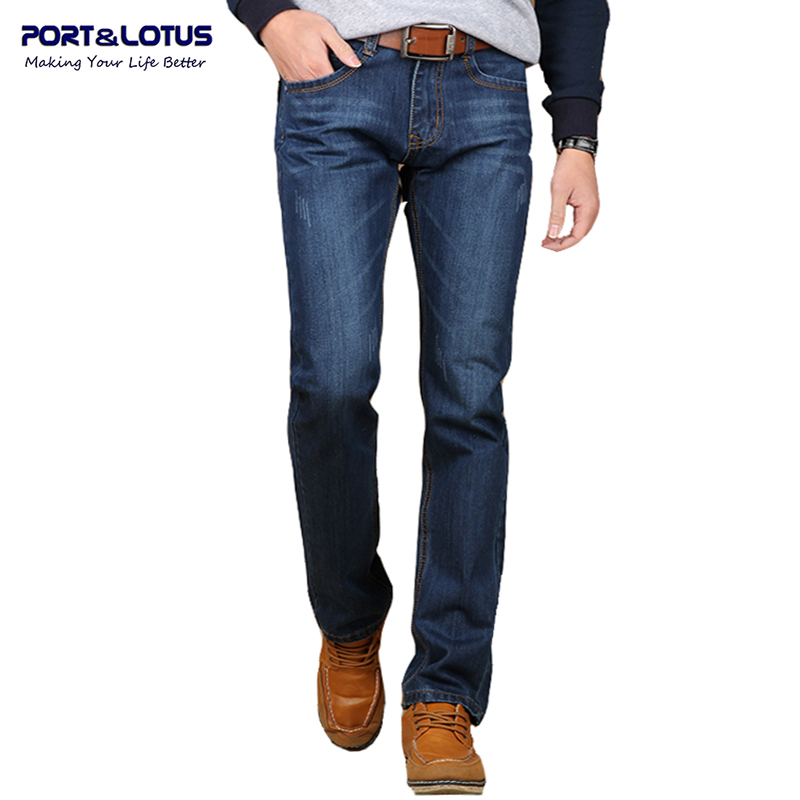 Port&amp;Lotus Men Jeans Brand Clothing Solid Color Midweight Straight Pants Slim Fit  Jeans Men 069 wholesaleОдежда и ак�е��уары<br><br><br>Aliexpress