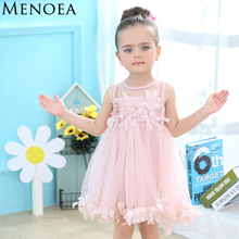 Buy Menoea Cute Girls Dress 2017 New Summer Mesh Girls Clothes Pink Applique Princess Dress Children Summer Clothes Baby Girls Dress for $6.89 in AliExpress store