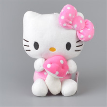 Mushroom Hello Kitty Stuffed Plush Toy,  Baby Kids KT Doll Gift Free Shipping