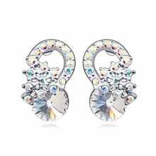 Trendy Wedding Jewelry for Women elegant Floral stud earrings Lovely Jewellery for girl friend(China)
