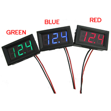 Mini 1 PCs New DC 0~30V LED Panel Voltage Meter Digital LED Display Voltmeter Motorcycle Car T1105(China)