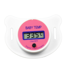 Hot sale mini LCD digital Mouth Baby Nipple Thermometer Baby Pacifier temperature  meter for baby kids with memory function