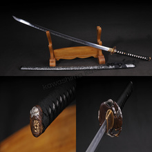 Full Handmade T10 White Spot Clay Tempered Samurai Sword Katana Sharp Edge