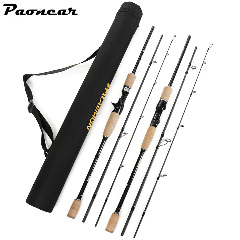 1.8M 2.1M 2.4M 2.7M 3.0M 3 Sections 12-25lbs  Saltwater&amp;Freshwater M Power Carbon Spinning Casting Fishing Rod <br>