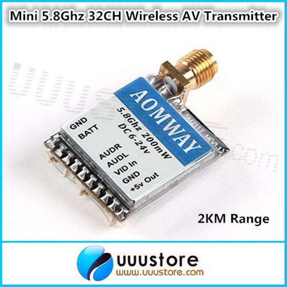 Aomway 5.8G 5.8Ghz 200mW 32CH Audio/Video AV Transmitter (TX) Module for FPV QAV210 ZMR250 DJI Quadcopter <br><br>Aliexpress