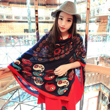 Women Summer Scarves 2016 From Nepal Vintage Stylish Cashew Flower Scarf Beach Suncreen Towel Shawls and Scarves  Bandana Stole