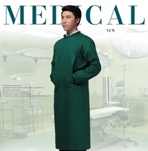 Unisex Green Medical Coat Clothing Hospital Uniform Nurse Clothing Long-sleeve lab coats hopital uniforme ospedale uniforme(China)