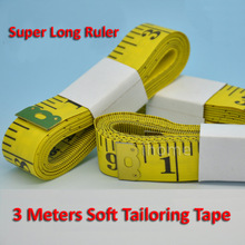 Wholesales New Measure Soft Tailor Sewing Dieting Ruler Gauge Tape 3m Long & 2cm Wide, Free shipping(China)