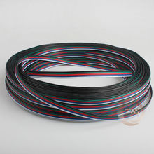 1m 2m 3m 4m 5m 10Meters 5 Pin RGBW wire cable 5 Channels RGBW LED Strip wire Extension Extend Cable  Wire Cord Connector For RGB