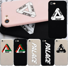 Palace Logo Brand NEW Soft Silicon TPU Case for iPhone 7, Fashion Phone Cover Coque for iPhone 6 6s Plus 7 Plus 5s 5 SE Fundas