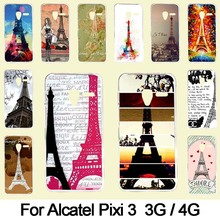 Hard plastic Case For Alcatel One Touch Pixi 3 4.5 inch Mobile Phone Cover Bag Cellphone Housing Shell Skin Mask Color Paint