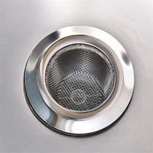 High Quality Kitchen Stainless Steel Filter Drain Sewer Sink Strainer Stainless Steel Net  Kitchen Accessories