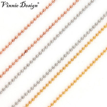 Vinnie Design Jewelry High Quality Stainless Steel 80cm Ball Chain Necklace for Coin Holder Pendant