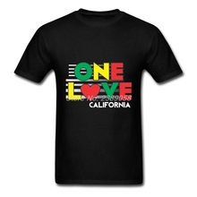 Mens t-shirt Newest One Love California High Quality Graphic O Neck Short Sleeve Men's T shirt