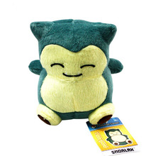 "2017 Free Shipping 1PCS 6""15cm Plush Toy Snorlax Plush Anime New Rare Soft Stuffed Animal Doll For Kid Gif KaBiShou"