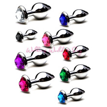 Buy S/M/L Size Heart Shape Stainless Steel Anal Plug Metal Butt Plug Sex Toys Women Men Anal Dilator Jewelry Anal Sex Products