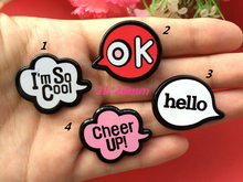 Free shipping, Personality graffiti Scrapbook resin letter phone diy decorated brooch jewelry pendants decoration 20pcs(China)
