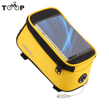 "ROSWHEEL 4.2"" 4.8"" 5.5"" Cycling Bike Bicycle Bags Panniers Frame Front Tube Bag For Cell Phone MTB Bike Touch Screen Bag"