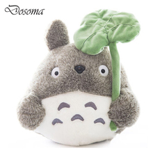 Cute Cartoon Totoro Doll Plush Toys My Neighbor Totoro Stuffed Toy Soft Doll Totoro with Lotus Leaf Kids Toys Gift Girl Toys