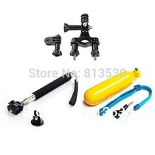 GoPro Accessories.Suction Cup +Floating Grip+Bike Handlebar Seatpost for Gopro Hero 4 3+ 3 2 SJ4000 SJ5000 SJ6000 Xiaomi Yi(China)