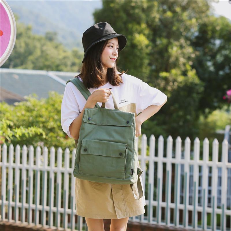Menghuo Brand Female Women Canvas Backpack Preppy Style School Lady Girl Student School Laptop Bag Cotton Fabric bolsasMJZM0255