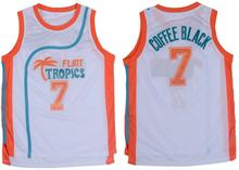 White Basketball Throwback Jerseys Movie Semi Pro Flint Tropics Movie #7 COFFEE Black Jersey 2016 Men Basketball Jerseys White