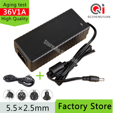 36V 1A AC DC Adaptor 36W switching power supply charger 36V1A 5.5*2.5/5.5*2.1 mm free shipping(China)