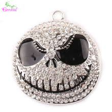39*26MM 10pcs/lot DIY Chunky Pendant Alloy Pendant Making Rhinestone Cute Ghost Pendant For Halloween KQPP-909558
