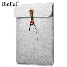 "BinFul Fashion Laptop Cover Case For Macbook Pro/Air/Retina Notebook Sleeve bag 11""12'' 13""15"" Wool Felt Ultrabook Sleeve Pouch"