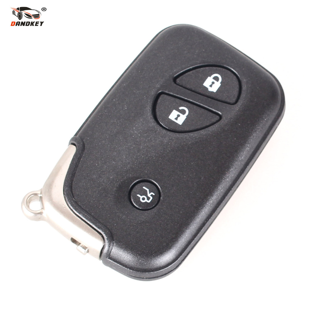 DANDKEY 10x Smart Remote Key Case Fob Keyless Entry 3 Button For Lexus IS250 ES350 GS350 LS4 Free Shipping(China (Mainland))