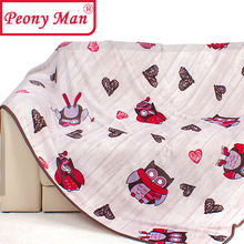 High Quality Flannel Blanket Peony Man Brand Adult Winter Autumn Thick Warm Big Owl Super Soft Coral Fleece Blankets On The Bed