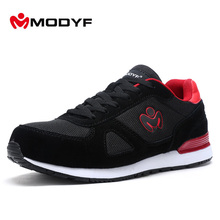 Modyf Men summer spring steel toe work safety shoes casual skateboard footwear ankle protective(China)