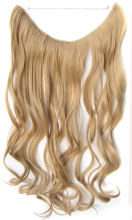 QQXCAIW Women Long Curly No clips 55Cm 50g - Transparent wire Natural Blonde Black Brown Synthetic Hair Extensions Hairpieces