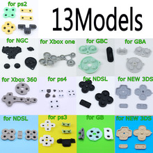 For GB GBP GBA SP Conductive Rubber Silicone Pads Buttons For Game Boy Color GBC Console