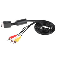 Wholesale 1pcs 1.8m 6FT 1.8M Audio Video AV Cable to RCA for SONY PS2 PS3 For PlayStation SYSTEM Cable for PS2(China)