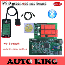 10pcs/lot Big Sale! v9.0 nec relays new vci VD TCS CDP Pro Plus with Bluetooth OBD2 diagnostic tool for car and trucks as mvd(China)
