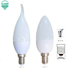 10 pcs/lot LED Bulb E14 110V 220V LED Candle Light 2835 SMD 8 10leds Chandelier Candle Lighting Home Decoration