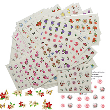 48 Sheets Sweet Flowers Nail Art Water Transfer Stickers Nail Tips Decals Mixed Designs Manicure Decoration Tools BEA289-366(China)