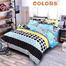 Multy Color Cartoon Kids Adults Bedding Sets Twin Full Queen King Size Doona Duvet Cover Set 100% polyester Bedlinen SJT077