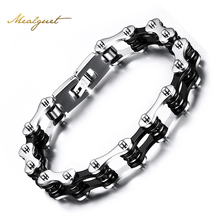 Meaeguet fashion men bike bracelets stainless steel bracelets bangles for men jewelry wholesale bike chain bracelets
