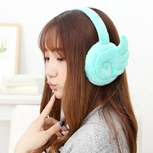 Cute Wings Girl Winter Ear Warmer Fur Earmuffs Fashion oorwarmers Accessory orejeras Color Random