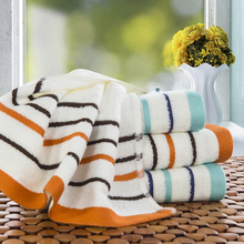 Best Bamboo Striped Hand Towel For Home Bathroom Outdoor and Travel Face Towels On sale Soft High Absorbent Line(China)